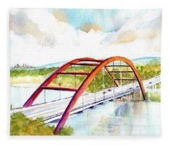 Austin 360 Bridge - Pennybacker Fleece Blanket