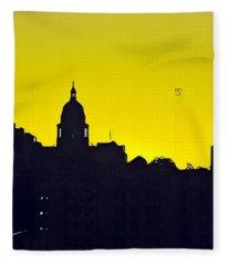 Austin Capital At Sunrise Fleece Blanket