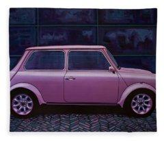Austin Mini Cooper 1964 Painting Fleece Blanket