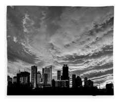 Austin Skyline Fleece Blanket