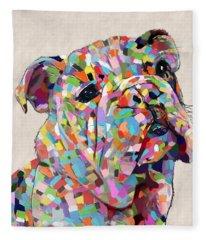 Australian Bulldog  Fleece Blanket