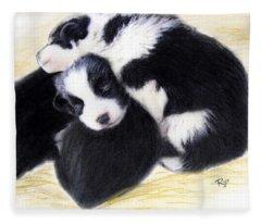 Australian Cattle Dog Puppies Fleece Blanket