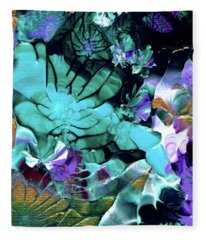 Australian Emerald Begonias Fleece Blanket
