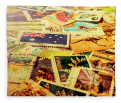 Australian Postal Background Fleece Blanket