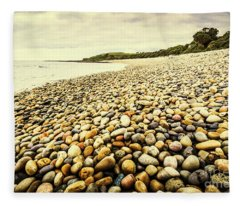 Australian Rocky Shoreline Fleece Blanket