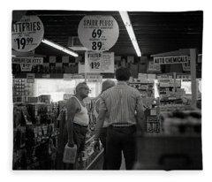 Auto-parts Store, 1972 Fleece Blanket