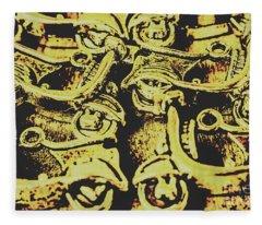 Automotive Pop Art Fleece Blanket
