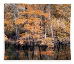 Autumn Along The Waccamaw Fleece Blanket