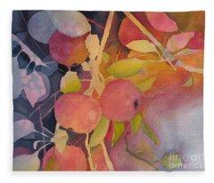 Autumn Apples Fleece Blanket