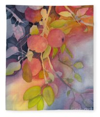 Autumn Apples Full Painting Fleece Blanket