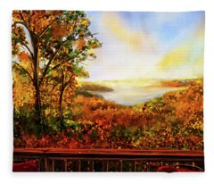 Autumn At Beaver Lake -beaver Lake Art Fleece Blanket