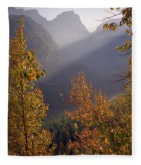 Autumn At Logan Pass Fleece Blanket
