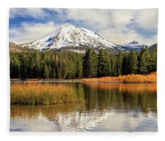 Autumn At Mount Lassen Fleece Blanket