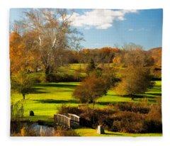 Fleece Blanket featuring the photograph Autumn At Ringwood Manor by Nancy De Flon