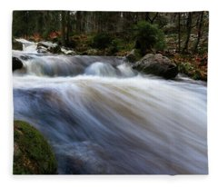 Autumn At The Bode, Harz Fleece Blanket