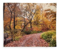 Autumn Azalea Garden Fleece Blanket