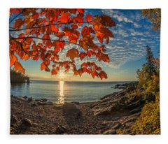 Autumn Bay Near Shovel Point Fleece Blanket
