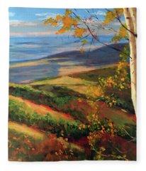 Autumn Birches Fleece Blanket