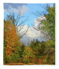 Autumn Breeze Nature Art Fleece Blanket