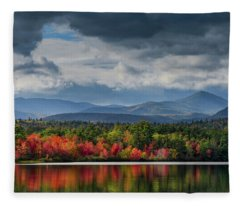 Autumn Chocorua Lake Nh Fleece Blanket