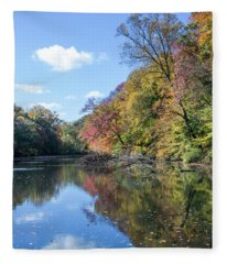 Autumn Colors At Hopkins Pond Fleece Blanket