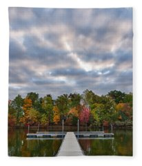 Autumn Colors At The Lake Fleece Blanket