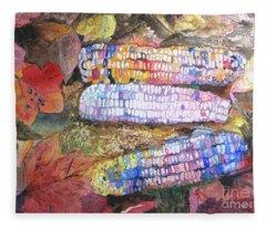 Autumn Corn Fleece Blanket