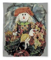 Autumn Country Scarecrow Fleece Blanket