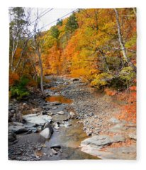 Autumn Creek 5 Fleece Blanket