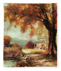 Autumn Dreams Fleece Blanket