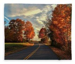 Autumn Drive Fleece Blanket