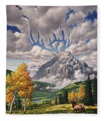 Autumn Echos Fleece Blanket