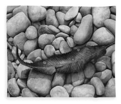 Autumn Epilogue On Black Fleece Blanket
