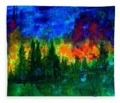 Autumn Fires Fleece Blanket