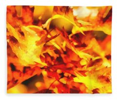 Autumn Foliage Fleece Blanket