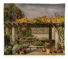 Autumn Gardens With A View Fleece Blanket