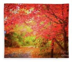 Glorious Foliage On The Rail Trail Fleece Blanket