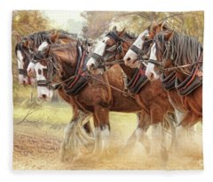 Autumn Harrow Fleece Blanket
