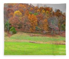 Autumn Hillside Fleece Blanket