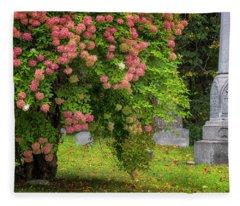 Autumn Hydrangeas Fleece Blanket