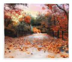 Autumn In Discovery Lake Fleece Blanket