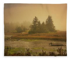Autumn In New England Fleece Blanket