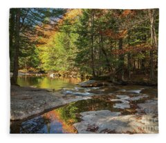 Autumn In New Hampshire Fleece Blanket