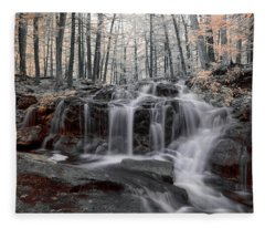 Autumn In Spring Infrared Fleece Blanket
