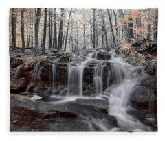 Autumn In Spring Infrared Fleece Blanket