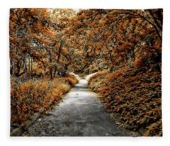 Autumn In Stamford Fleece Blanket
