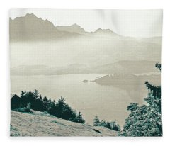 Autumn In The Alps Fleece Blanket