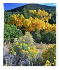 Autumn In The Canyon Fleece Blanket