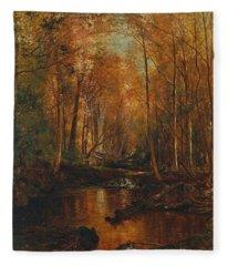 Autumn In The Catskills Fleece Blanket