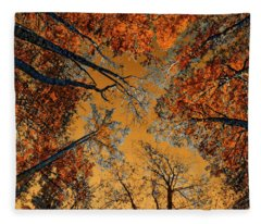 Autumn In The Forest Fleece Blanket